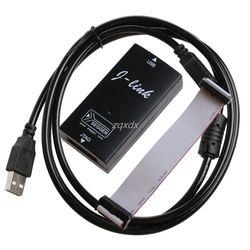 Hitam Plastik Iklan IAR STM32 Jtag Antarmuka Jlink V8 Debugger Lengan ARM7 Emulator Cortex-M4/M0 Z09 DROP Kapal