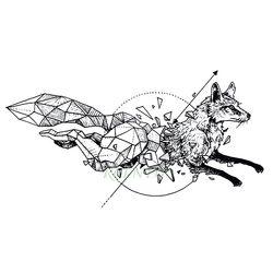 Tahan Air Tato Sementara Fox Serigala Serigala Whale Burung Hantu Geometris Hewan Tatto Flash Tato Tato Palsu untuk Gadis Wanita Pria Anak 7