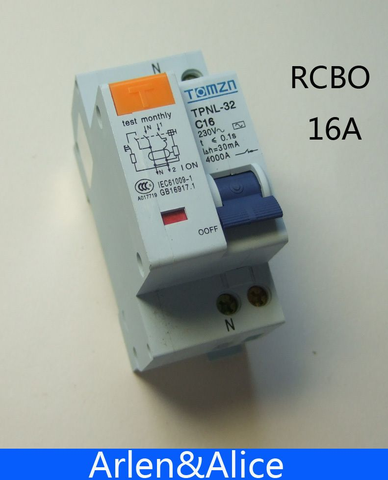 DPNL 1 P + N 16A 230 V ~ 50 HZ/60 HZ fehlerstromschutzschalter mit über strom und Leck RCBO
