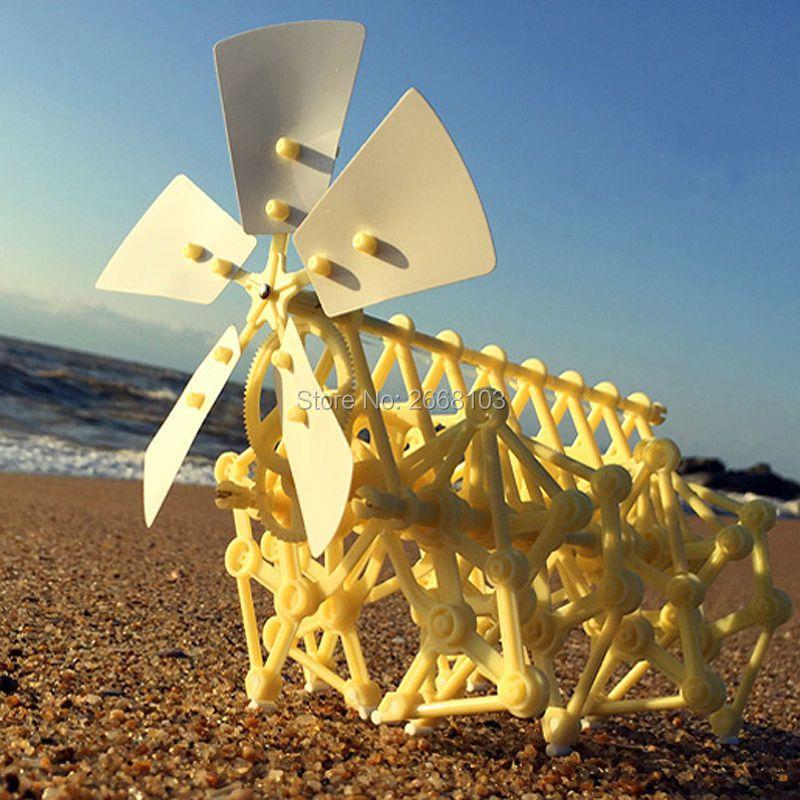 Livraison rapide Puzzle marche offre spéciale bricolage échoubeest assemblée modèle puissant vent alimenté marcheur Kits Robot jouets enfants cadeaux