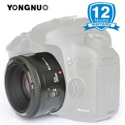 YONGNUO 50MM F1.8 Lens for Canon EF Mount EOS Camera Large Aperture Auto Focus YN50mm Camera Lens for 650D 700D 5D Mark III