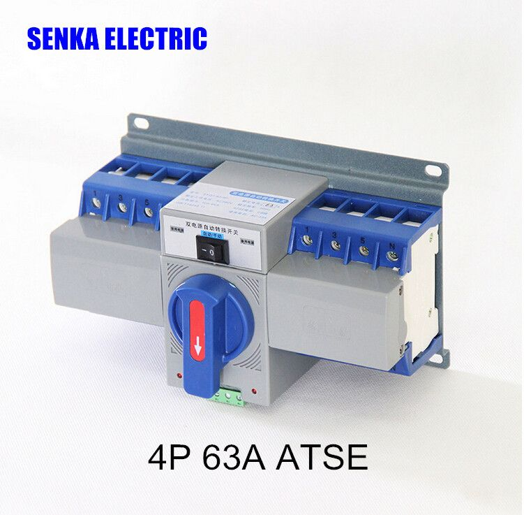 4P 63A MCB Type Dual Power ATS Automatic Transfer Switch