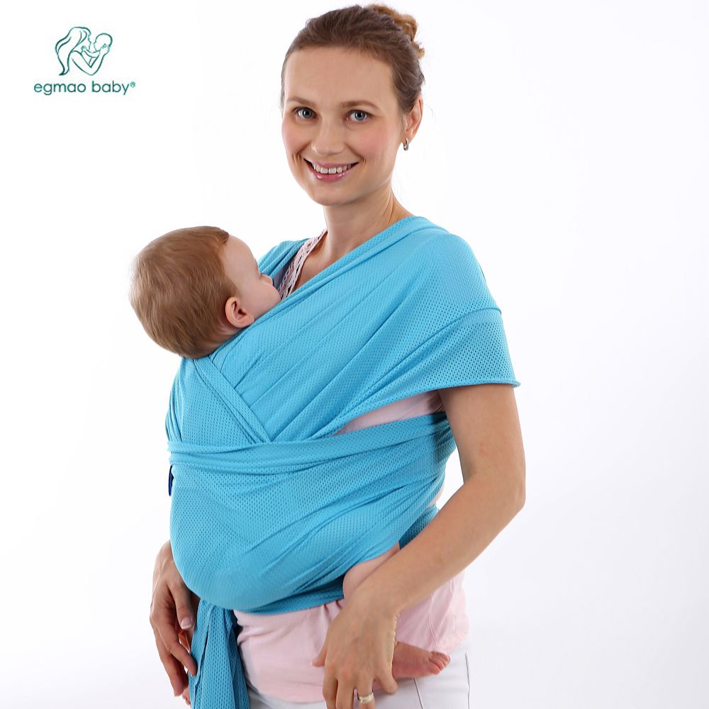 Breathable baby wrap and carrier backpack for infant, comfortable fashion designed cotton baby sling for newborns