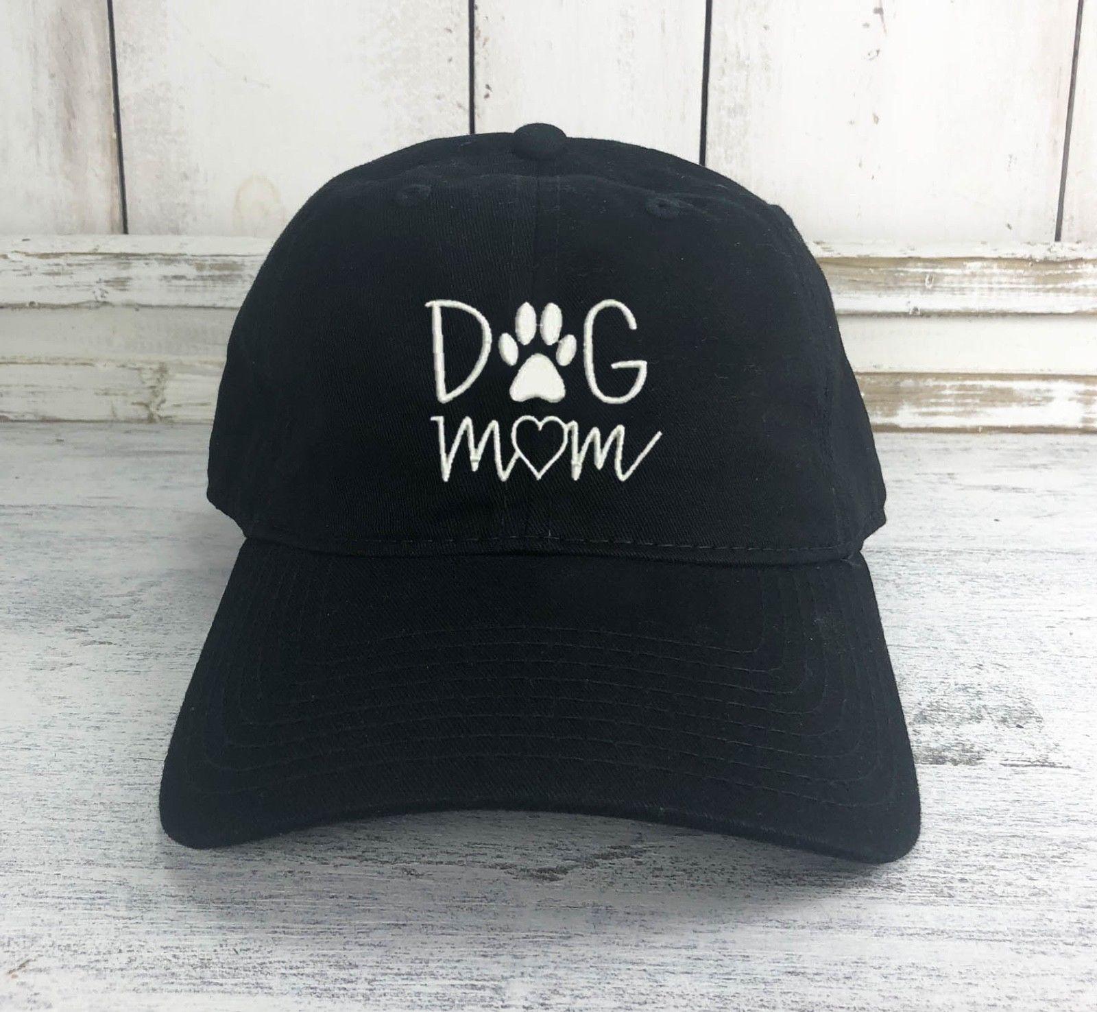 Dog Mom Logo Dad Hat Printed Baseball Cap Dog Lover Dog Paw