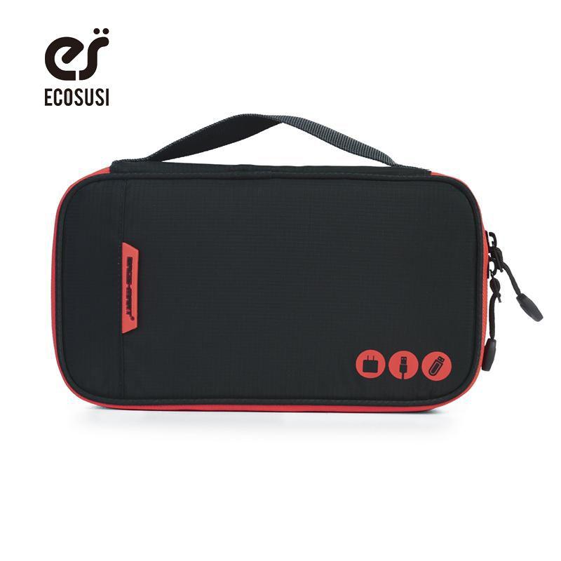 Ecosusi electrónico Accesorios organizadores portátil Bolsas de viaje para el teléfono datos cuble tarjeta SD USB Cable cargador del teléfono del auricular