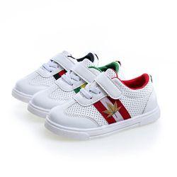 Bavoirsj niño Bebé Zapatos negro rojo verde hojas Hollow ventilación niñas Causual zapatos B1939