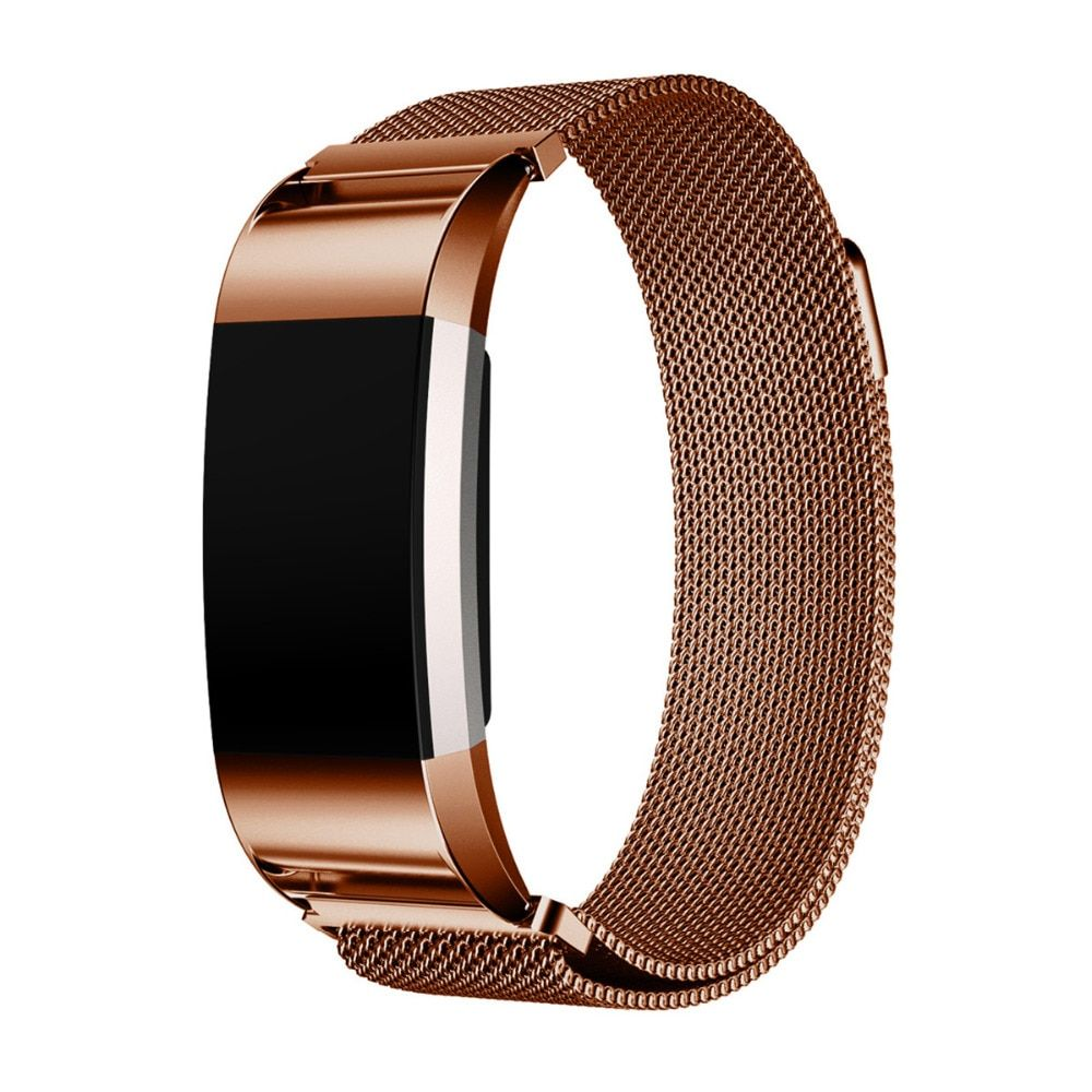 Magnetic Milanese Loop Wrist strap for Fitbit Charge 2 band for Link Bracelet Stainless Steel Band men woman Adjustable Closure