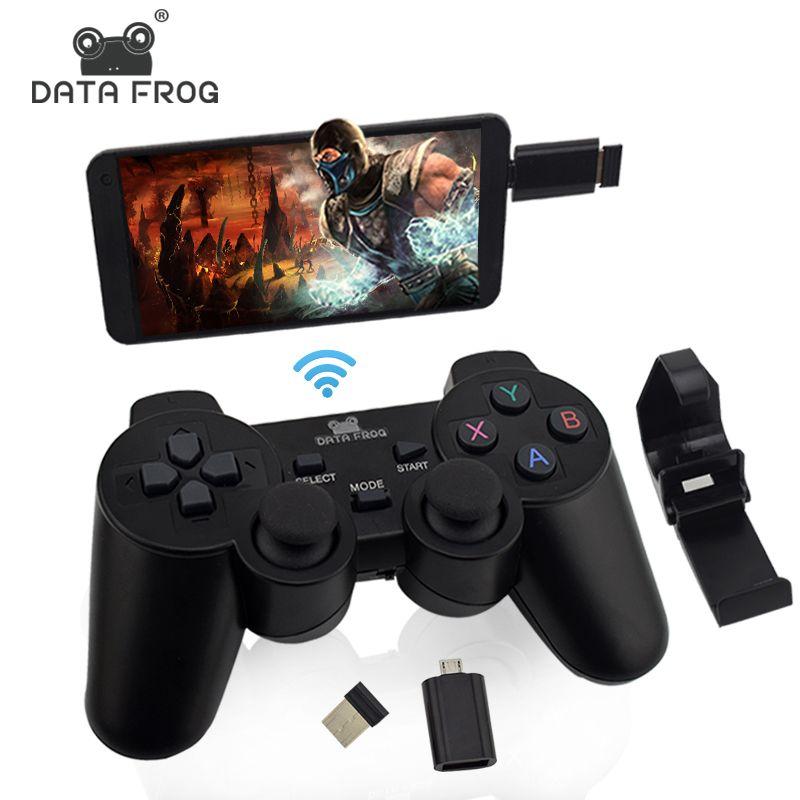 Manette de jeu sans fil PC pour PS3 Android téléphone TV Box Joystick 2.4G Joypad contrôleur de jeu à distance pour téléphone intelligent Xiaomi OTG