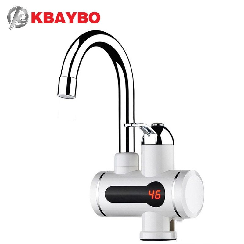 2016 NEW Instant Water Heater LCD Temperature Display Tankless Water Heater Tap Instant Hot Water Faucet Crane 3000W