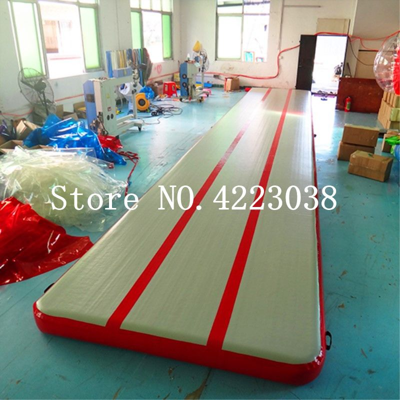 Freies Verschiffen Freies Pumpe, 6 m, 7 m, 8 m Aufblasbare Air Track Gymnastik Aufblasbare Air Track Tumbling Matte Gym AirTrack Für Verkauf