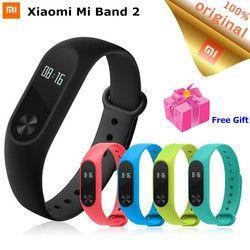 D'origine Xiaomi Mi Bande 2 Intelligent Bracelet de Remise En Forme Bracelet moniteur de fréquence Cardiaque Miband Mi Band2 Avec OLED Touchpad SmartBand