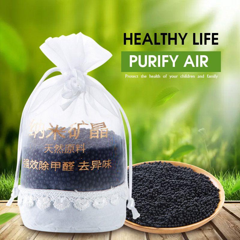 Bambou de voiture sac de charbon de bois goût de formaldéhyde sac de charbon actif saveur de voiture nano de voiture désodorisant de voiture de coiffure