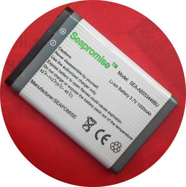 Freeshipping au détail batterie AB553446BU pour samsung E2652, C3300, E1110C, E3300, S5150, B100, L250, M128, M628, W539, X989, SGH-L258