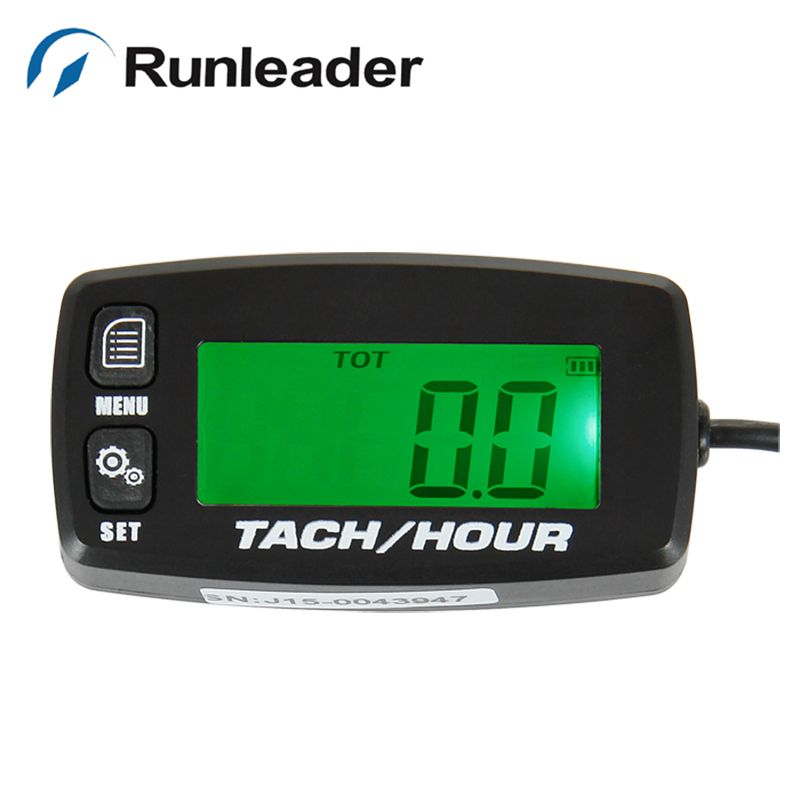 RL-HM032R large LCD green light Tachometer Hour Meter for Dirt bike Lawn mower engine moped snowmobile ourboard ruckus crf250