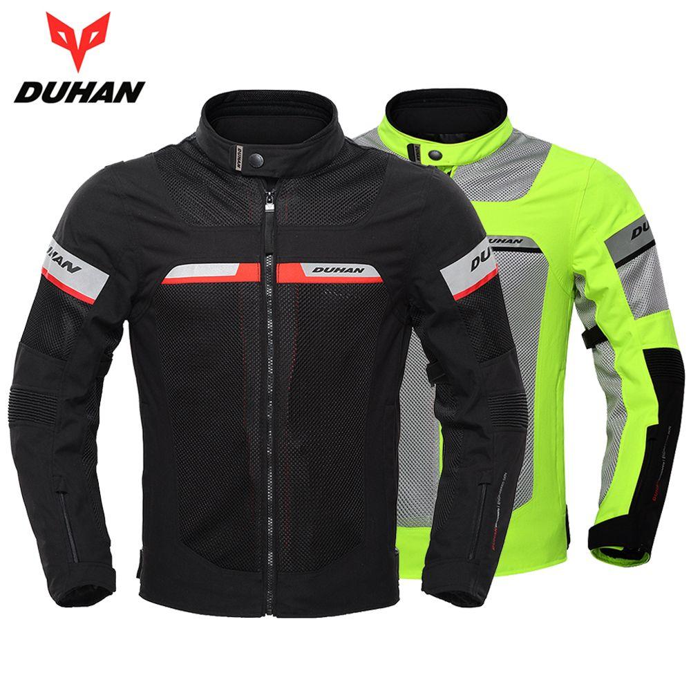 DUHAN Motorcycle Jacket Men Motorbike Jacket Protective Gear Breathable Waterproof Moto Jacket Motorcycle Clothing for Summer