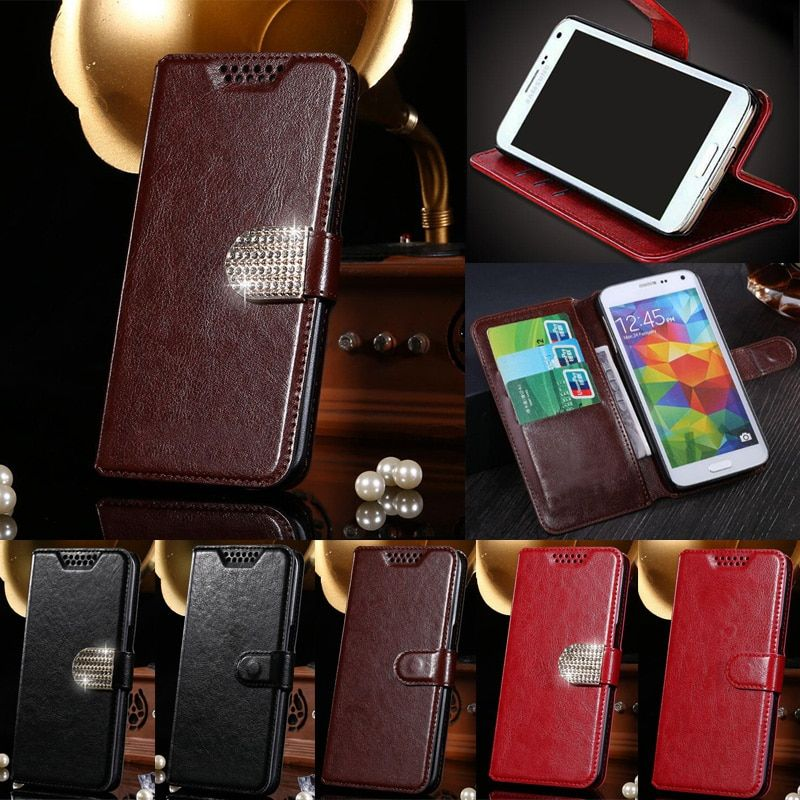 For MegaFon Login Plus Luxury PU Leather Case Wallet Magnetic Cover Flip With Card Holders Cases For MegaFon Login +