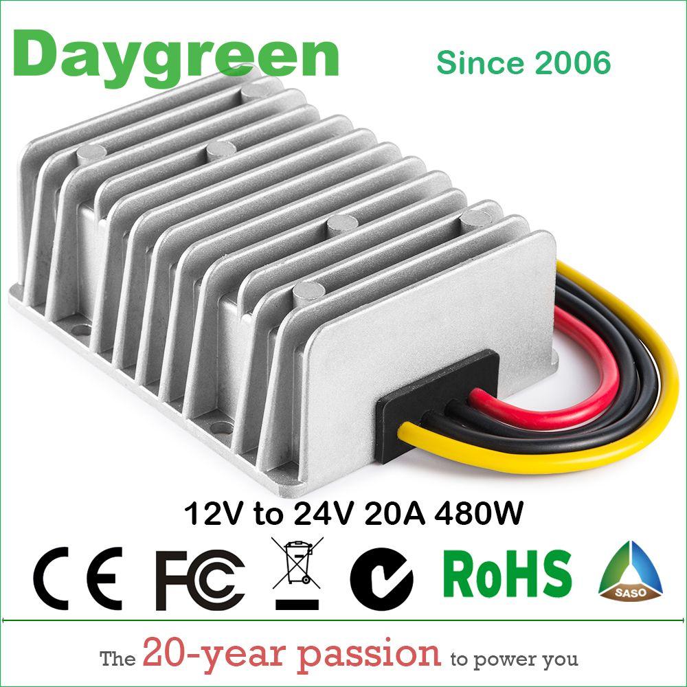 12 v ZU 24 v 20A STEP UP BOOST DC DC REGLER 20 AMP 500 WATT Daygreen Qualität Produkt 12VDC ZU 24VDC 20AMP