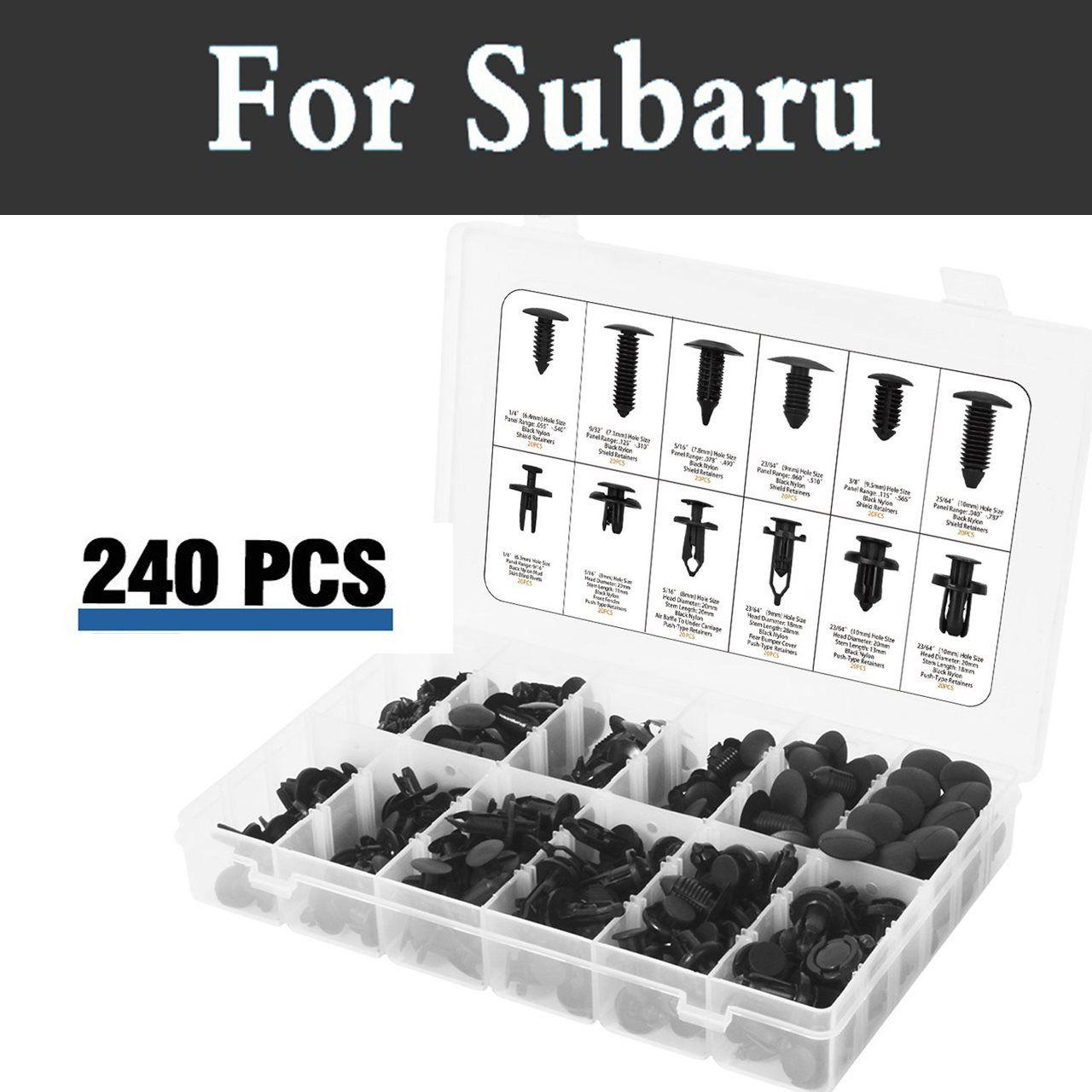240pcs Plastic Car Retainers Trim Mud Guard Trim Push Car Rivets For Subaru Alcyone Brz Dex Forester Impreza Wrx Sti Justy