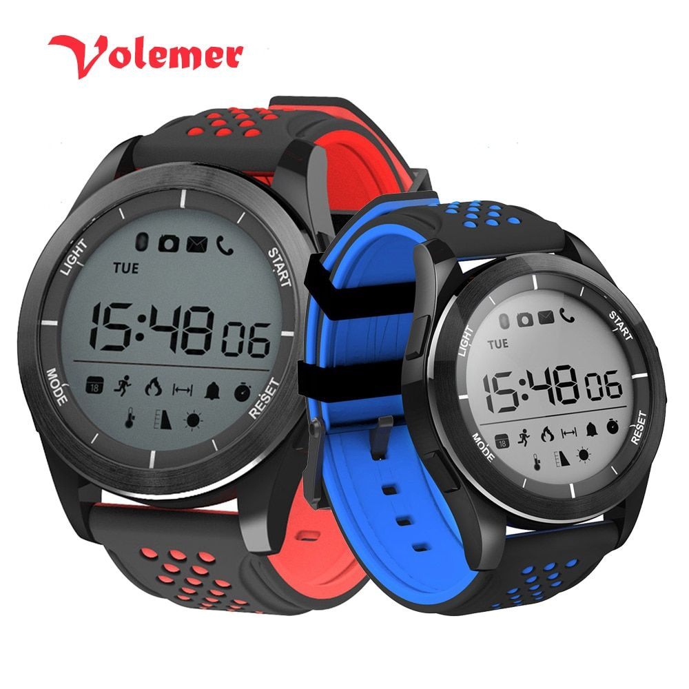 100% Original F3 Luminous Smart Watch Altitude Meter <font><b>Barometer</b></font> Mileage IP68 Waterproof Pedometer Smartwatch for IOS Android