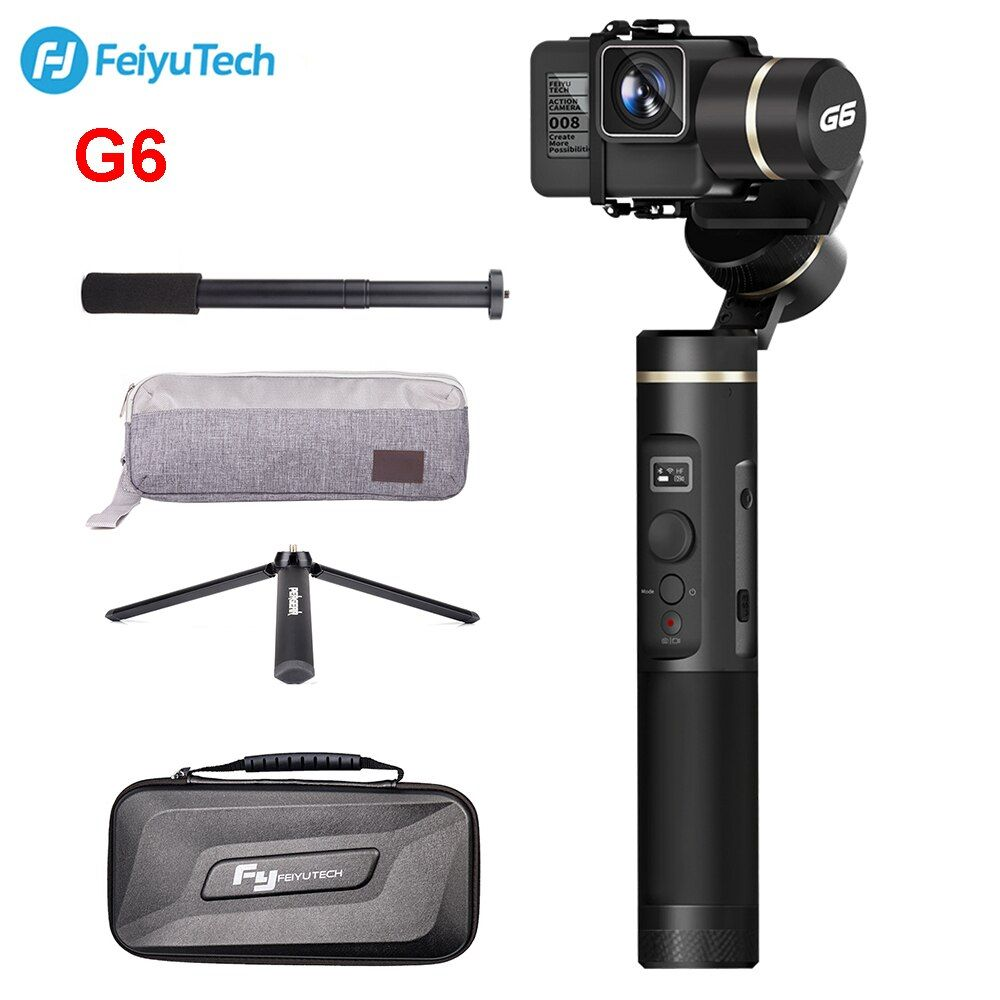 FeiyuTech G6 Splash Handheld Gimbal Action Kamera Wifi + Blau Zahn OLED Bildschirm Höhe Winkel für Gopro Hero 6 5 sony RX0