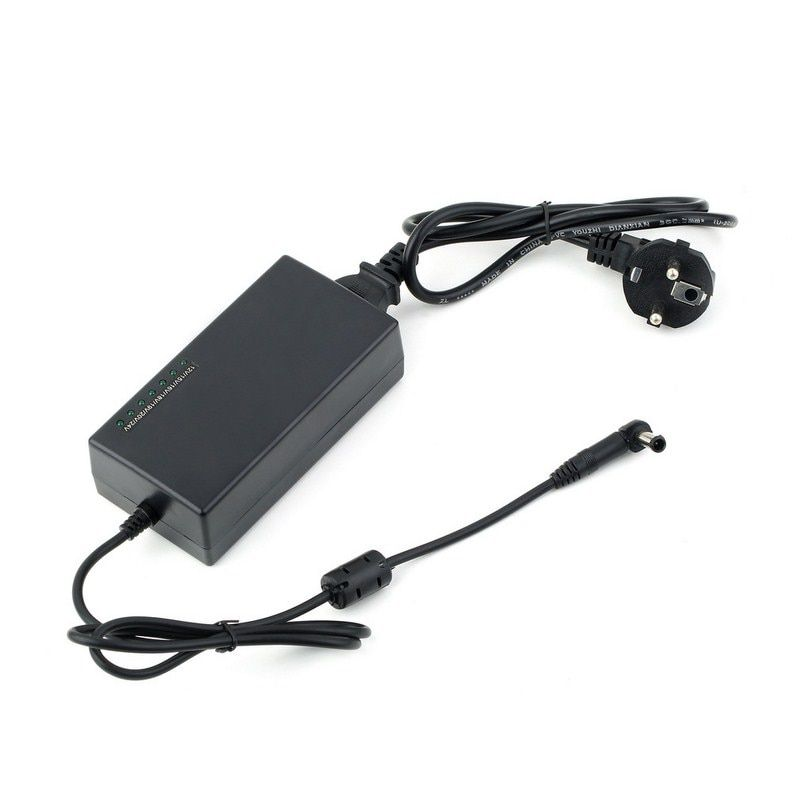 96W Notebook Power Adapter AC 110V 240V Input 8 Pcs Swappable Connectors For HP Lenovo Dell Type Laptop Notebook EU Plug