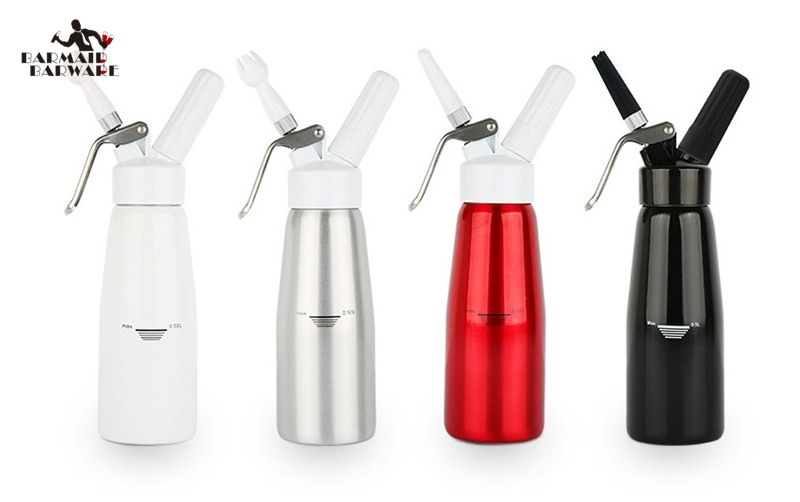 High Quality 500ML Artisan Whipped Cream Dispenser, Cream Whipper with Decorating Nozzles