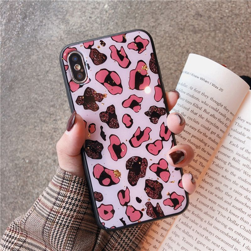 Luxury Leopard Print Phone Cases For iphone X XS Max XR Case For iphone X 7/8 6 S 6 plus Back Cover Fashion Glossy Soft Capa