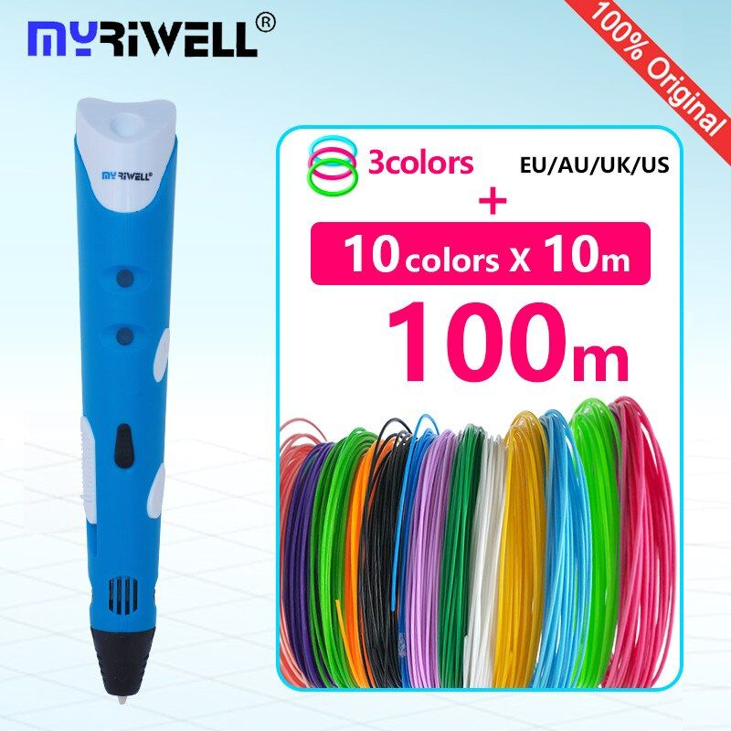 myriwell 3d pen 3d pens abs 1.75mm pla filament 3d printed pen 3 d pen 2017 Smart Child birthday present graffiti pen-3d model