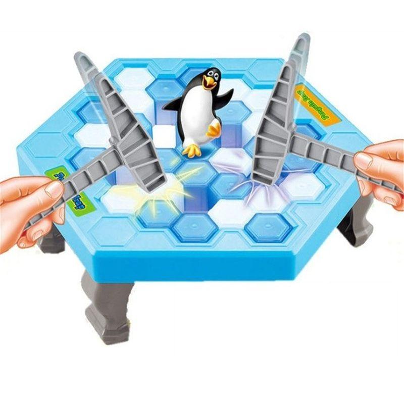 Caja Original Romper el Hielo Guardar El Antistresses trampa gran Diversión Familiar Juego de Escritorio pingüino Pingüino de juguete para niños Regalos Trucos