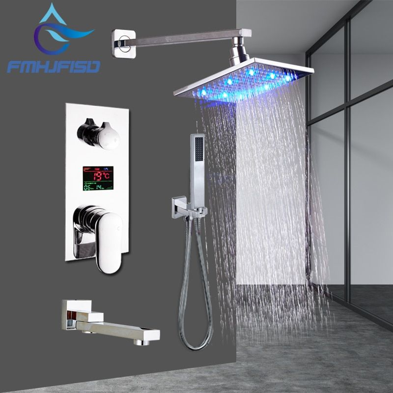 LCD Digital Display Shower Faucet Set 12