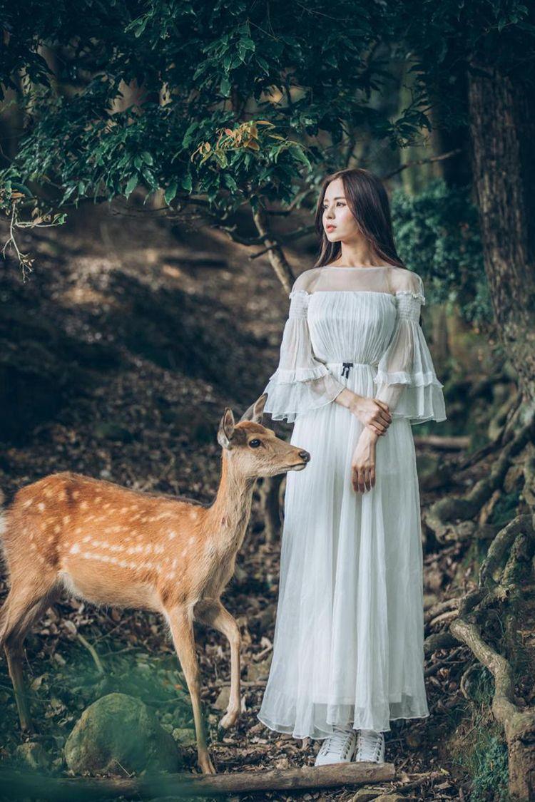 Freeship princess white fairy flare sleeve elastic long medieval dress chiffon long dress Victorian/Marie Antoinette