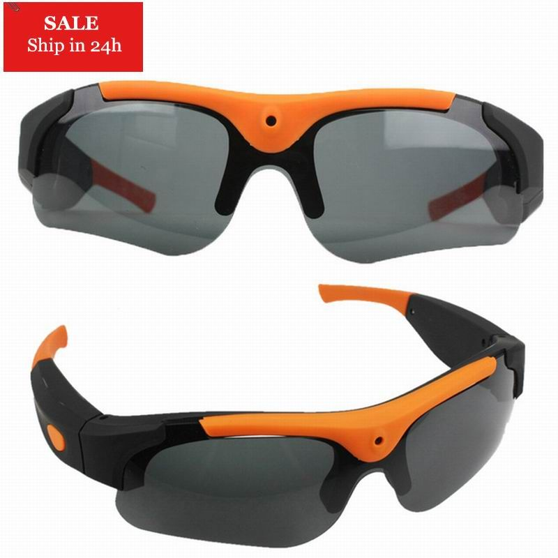 New HD 1080P 8GB/16GB/32GB Camera Smart Glasses Black/Orange Polarized Lens Sunglasses Camera Action Sport Video Camera Glasses