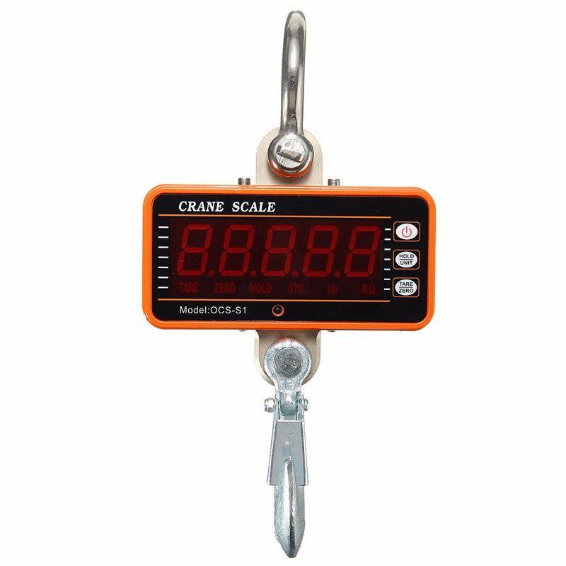 1Pcs Universal 1000KG Crane Hook Scale Digital 1000KG 2000LBS LCD Crane Scale High Precision Heavy Duty