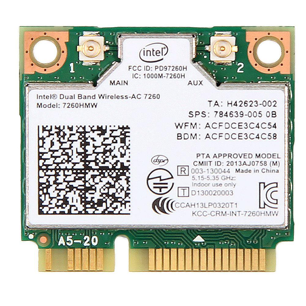 Double Bande Sans Fil-AC 7260 Intel 7260HMW 7260AC 2.4G/5 Ghz 802.11ac MINI PCI-E 2x2 carte wifi Wi-Fi + Bluetooth 4.0 Wlan Adaptateur