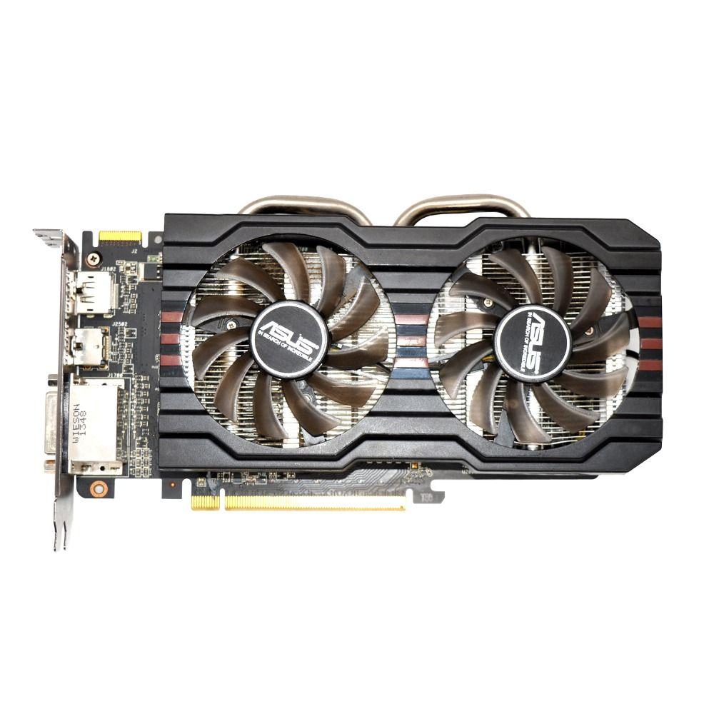 Verwendet, ASUS R9 270 2 GB 256bit GDDR5 Gaming Desktop PC Grafikkarte, 100% getestet gute