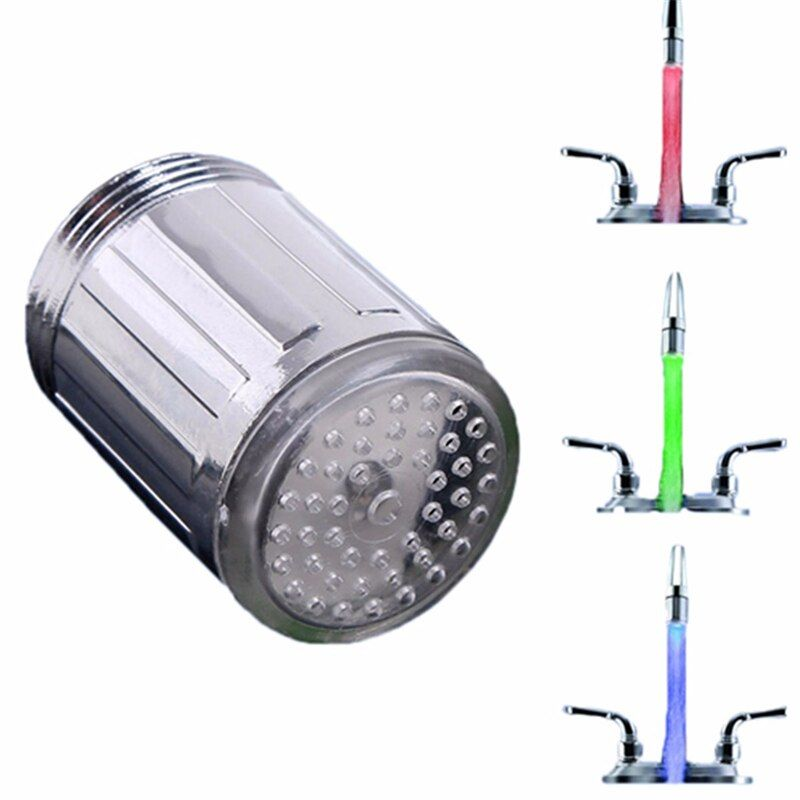 1 stück LED-Licht Wasserhahn Anzapfung Köpfe Temperatursensor RGB Leuchten LED Dusche Stream Badezimmer Dusche wasserhahn 3 Farbe ändern