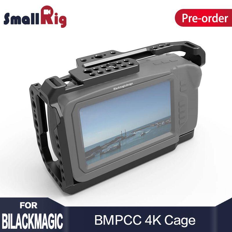 SmallRig Cage for Blackmagic Design Pocket Cinema Camera 4K BMPCC 4K With NATO Rail Thread Holes for DIY Options 2203