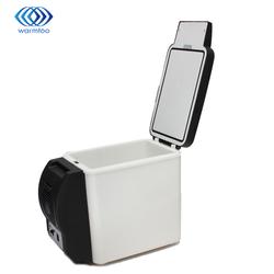 Portable Voiture Réfrigérateur 6L Réfrigérateur Véhicule Électrique Cool Boîte De Refroidissement Et Le Réchauffement à Double usage Cuisine Ménage Blanc 12 V DC