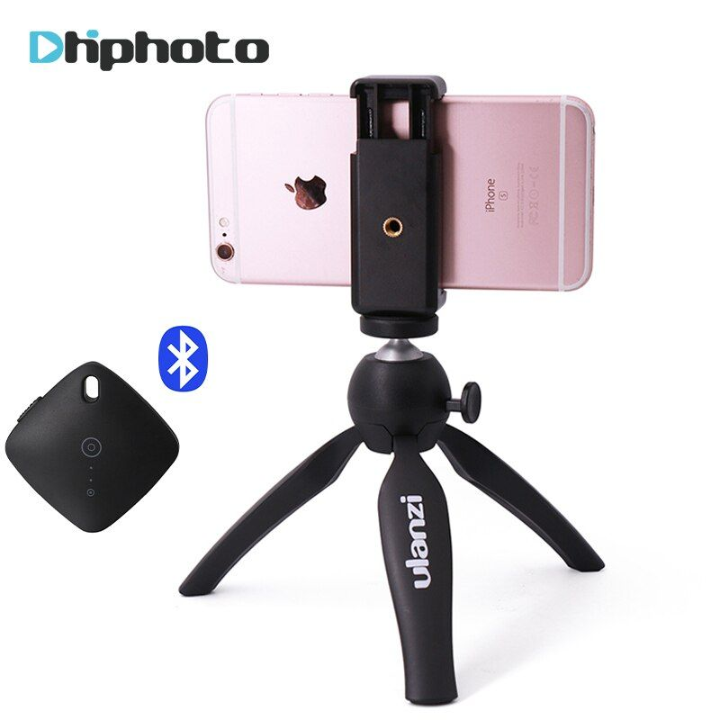 Ulanzi Mini Tripod with Phone Holder Mount, Camera Tripod Monopod for iPhone X 7 Canon Nikon Gopro <font><b>Smartphone</b></font> Zhiyun Smooth Q/4