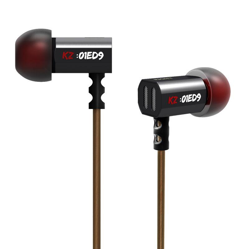 2015 nouveauté Original KZ ED9 3.5mm dans l'oreille écouteurs lourd basse HIFI DJ stéréo bouchon d'oreille isolation du bruit avec micro casque E57