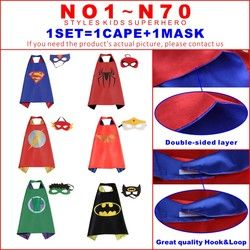 Enfants capes double côté capes de Super-Héros Hulk Batman superman darth vader Robin Thor noir cape super hero Enfants Costumes De Fête