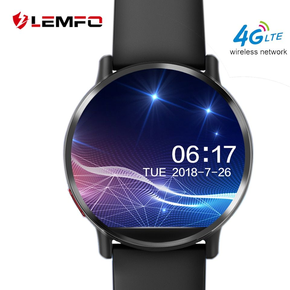 LEMFO LEMX Smart Watch Android 7.1 LTE 4G Sim WIFI 2.03 Inch 8MP Camera GPS Heart Rate IP67 Waterproof Smartwatch for Men Women