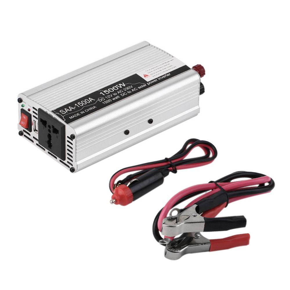 Новый DC12V к AC220V инвертор адаптер Инвертор автомобильный Напряжение Inversor 800/1000/1200/1500 Вт Бесплатная доставка