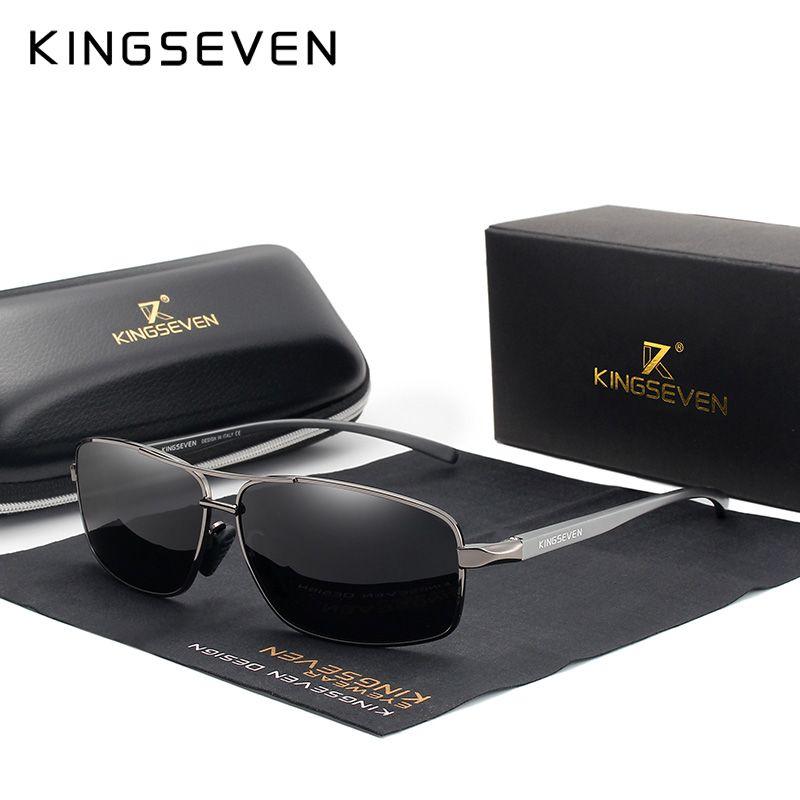 KINGSEVEN Vintage rétro marque Designer hommes lunettes de soleil polarisées carré classique hommes nuances lunettes de soleil UV400 N7088
