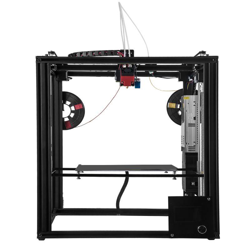 ZONESTAR Große Dule Extruder Mix Farbe Größe 300x300x400 3D Drucker Auto Level Laser Gravur Volle Metall aluminium Rahmen DIY kit