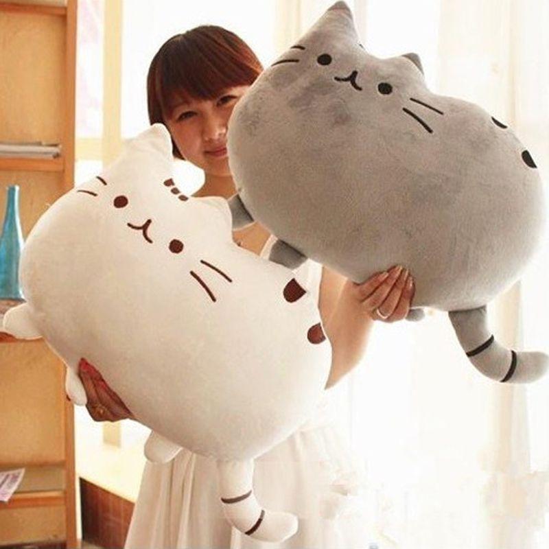 40x30cm Pusheen Cat Plush Toys Stuffed Animal Doll Animal Pillow Toy Pusheen Cat For Kid Kawaii Cute Cushion Brinquedos Gift