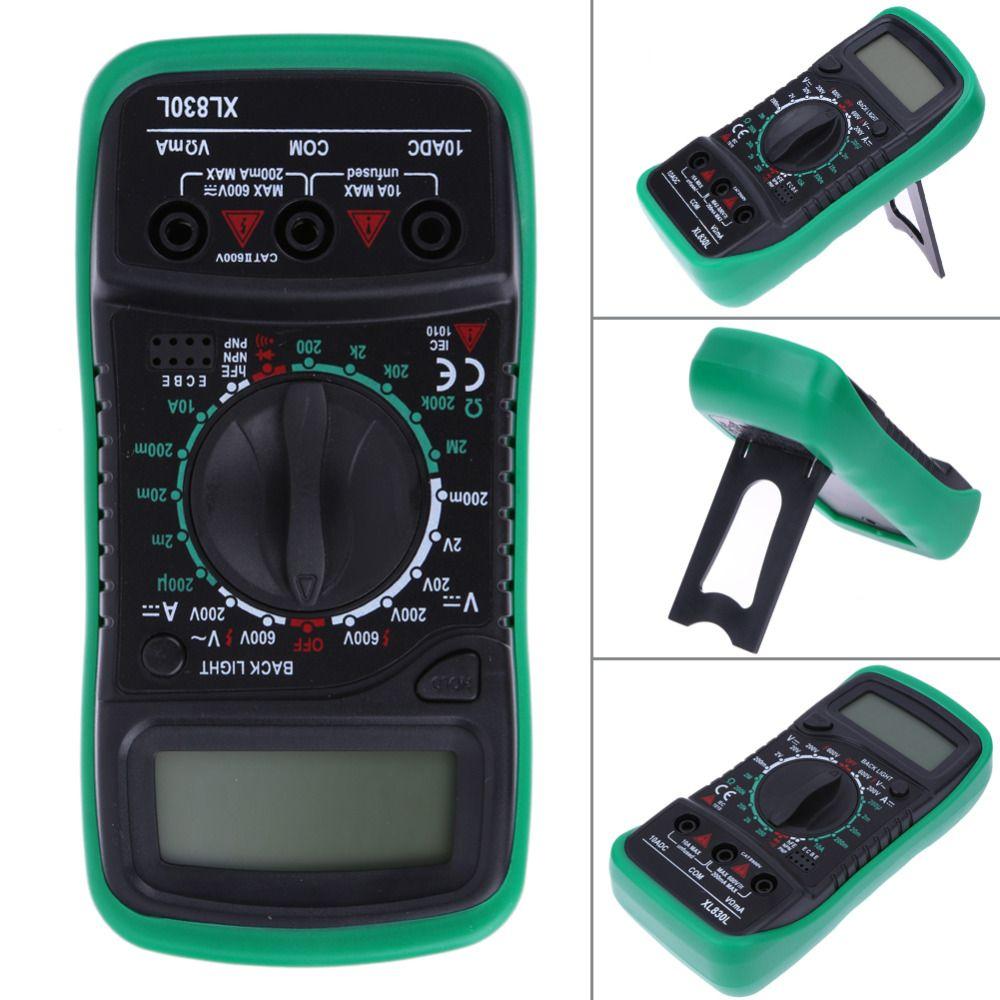 Multimètre numérique Voltmètre Ampèremètre AC DC OHM Volt Testeur LCD Test Mètre Courant Avec Cordons de mesure Bleu Rétro-Éclairage