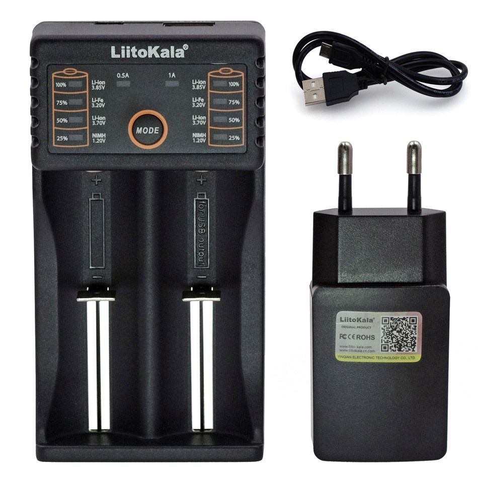 Liitokala Lii-S1 Lii-100 Lii-202 Lii-402 18650 chargeur 1.2 V 3.7 V AA/AAA 26650 14500 16340Lithium-ion Ni-MH Batterie Smart chargeur