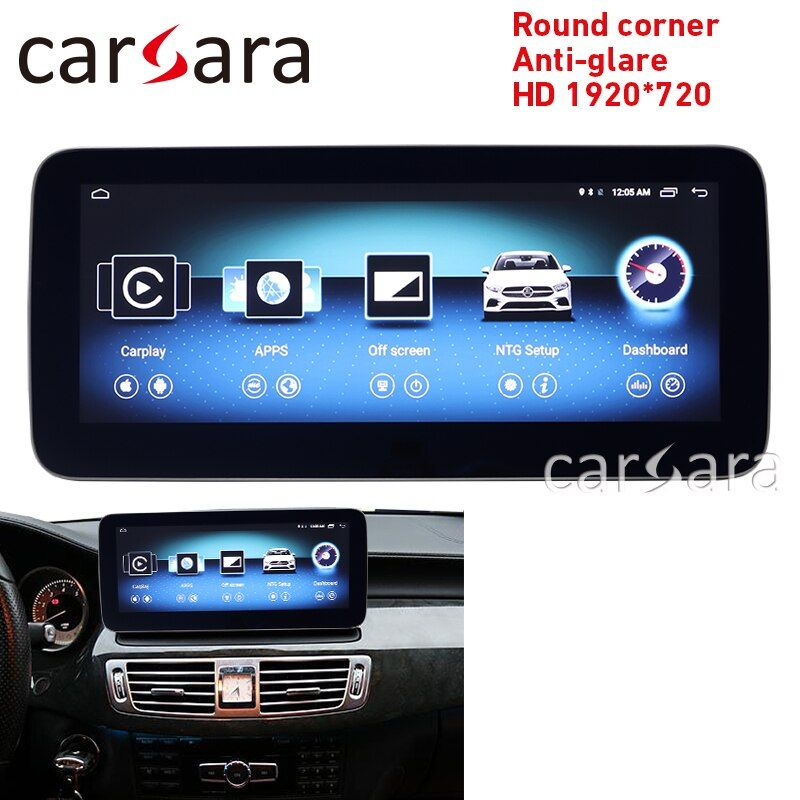 CLS Klasse W218 stereo screen android runde ecke HD 1920 anti-glare 10,25 Navigation display GPS dash multimedia player