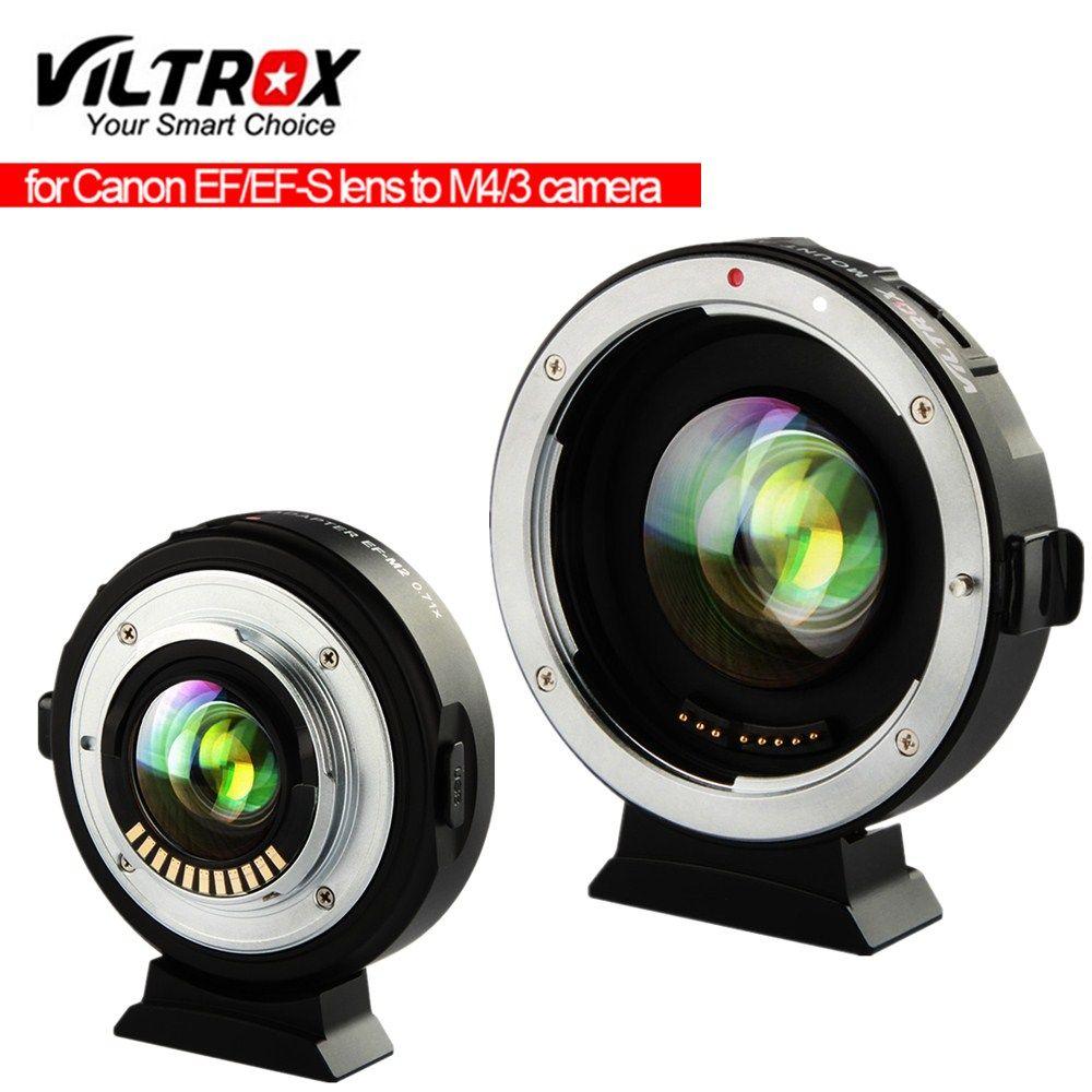 Viltrox EF-M2 Focal Reducer Booster Adapter autofokus 0.71x für Canon EF berg objektiv M43 kamera GH5 GH4 GF7GK GX7 E-M5 II M10